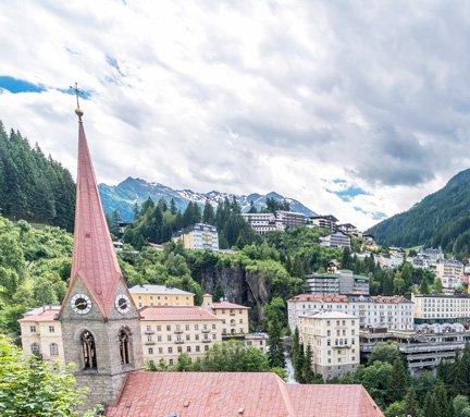Panoramic view of Bad Gastein