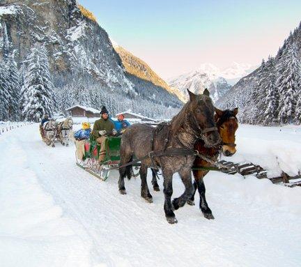 Pferdeschlittenfahrt durch Gastein